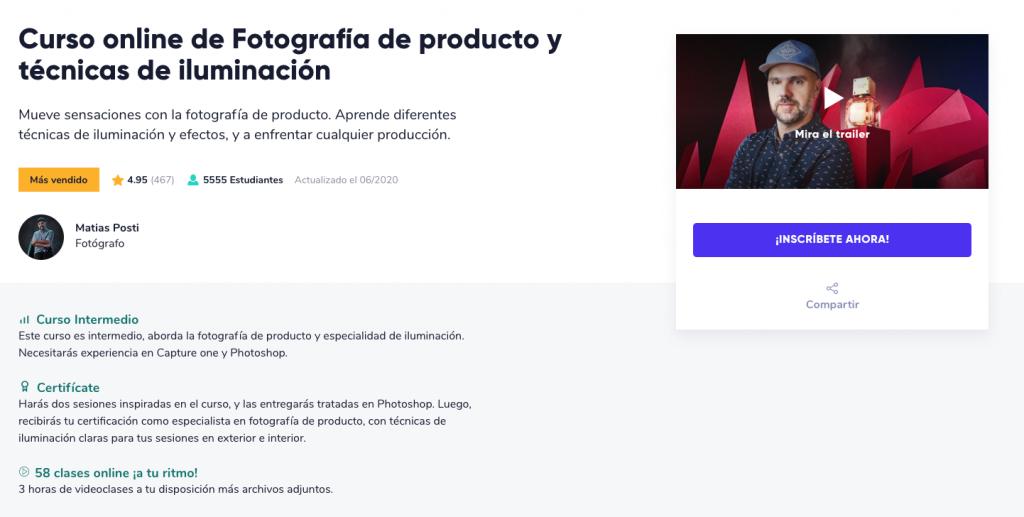 Curso de fotografía online de Crehana