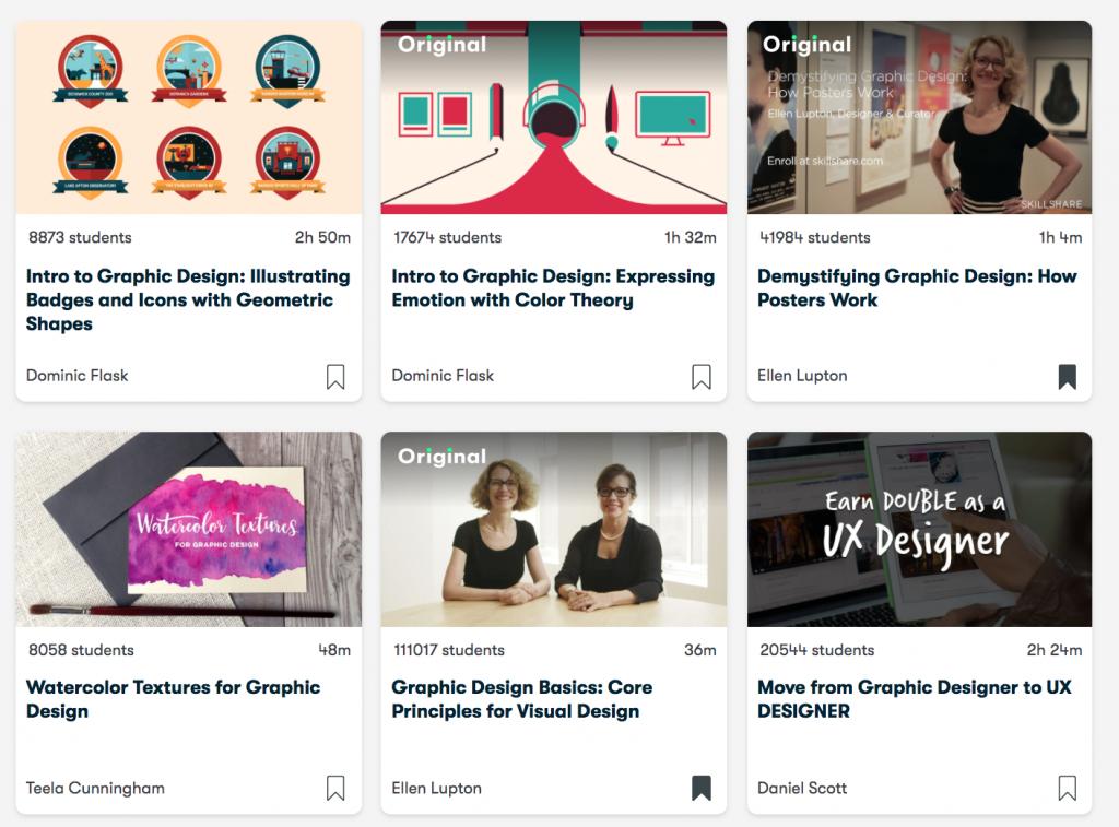Cursos de diseño gráfico online de Skillshare